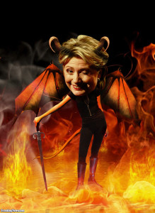 hot hillary -devil