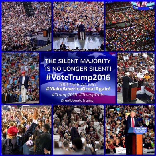 trump no silent majority